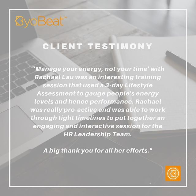 Client testimony 🙌 thank you 🙏 Looking forward to more opportunities to share my passion and work with others!. . . . . #byobeat #feedbackisagift #wellbeing #team #growthmindset #buildingdreams #workshops #learninganddevelopment #highperformance #energymanagement #health #facilitation #pressureisaprivilege #hongkong #testandlearn #lifestyle #lifestyleassessment #firstbeat #entrepreneur #dowhatyoulove #lovewhatyoudo