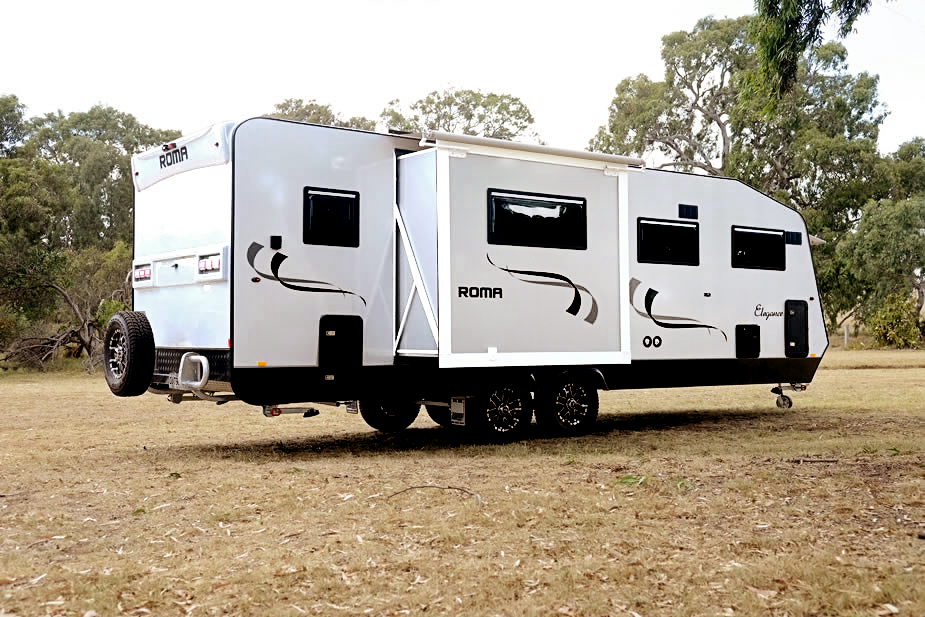 CARAVANS WITH SLIDE OUT SIDES