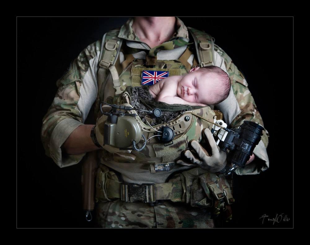 Marine dad and newborn baby beautiful photography Bournemouth Poole Dorset