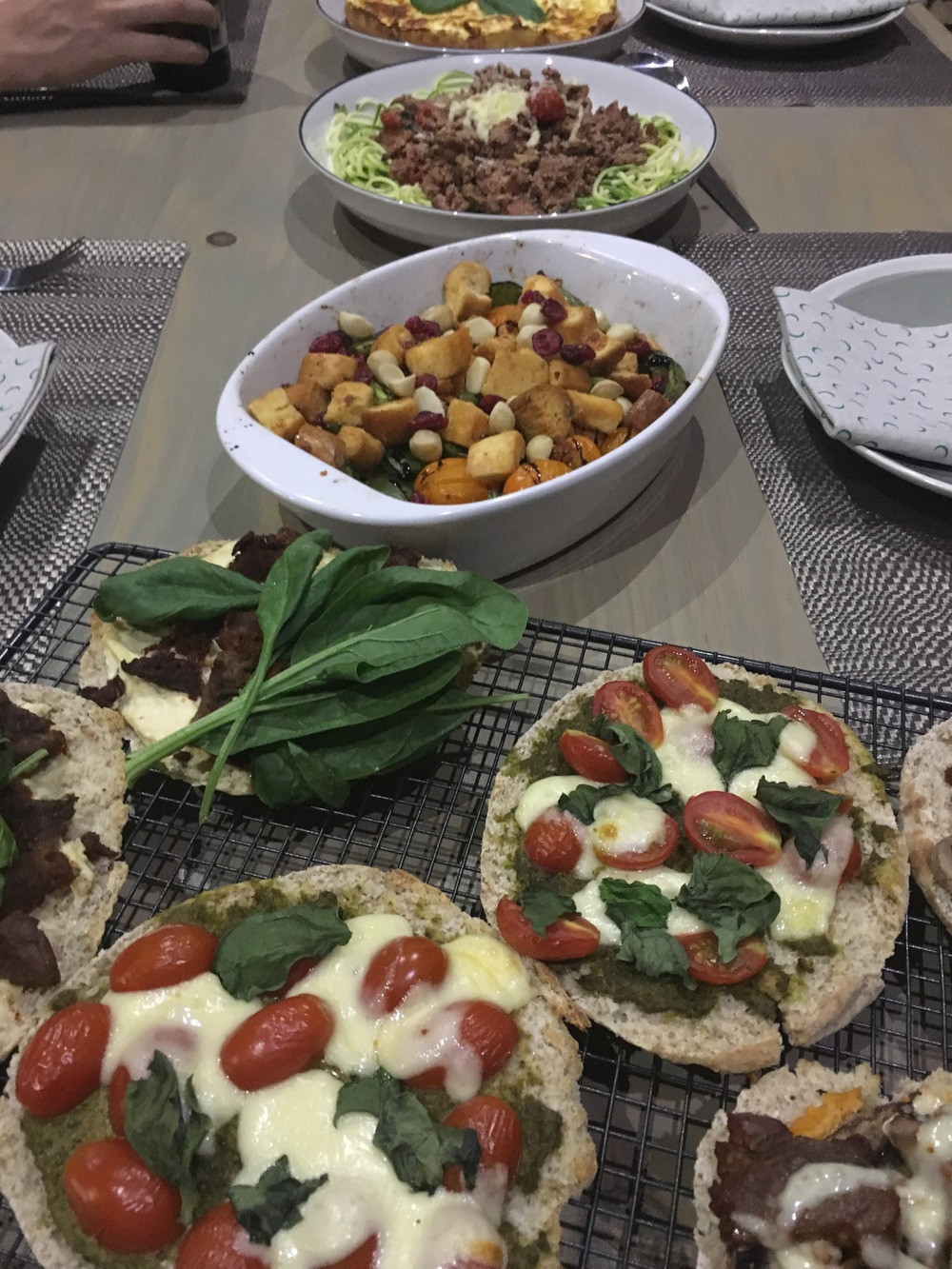 The Italian spread, served family style
