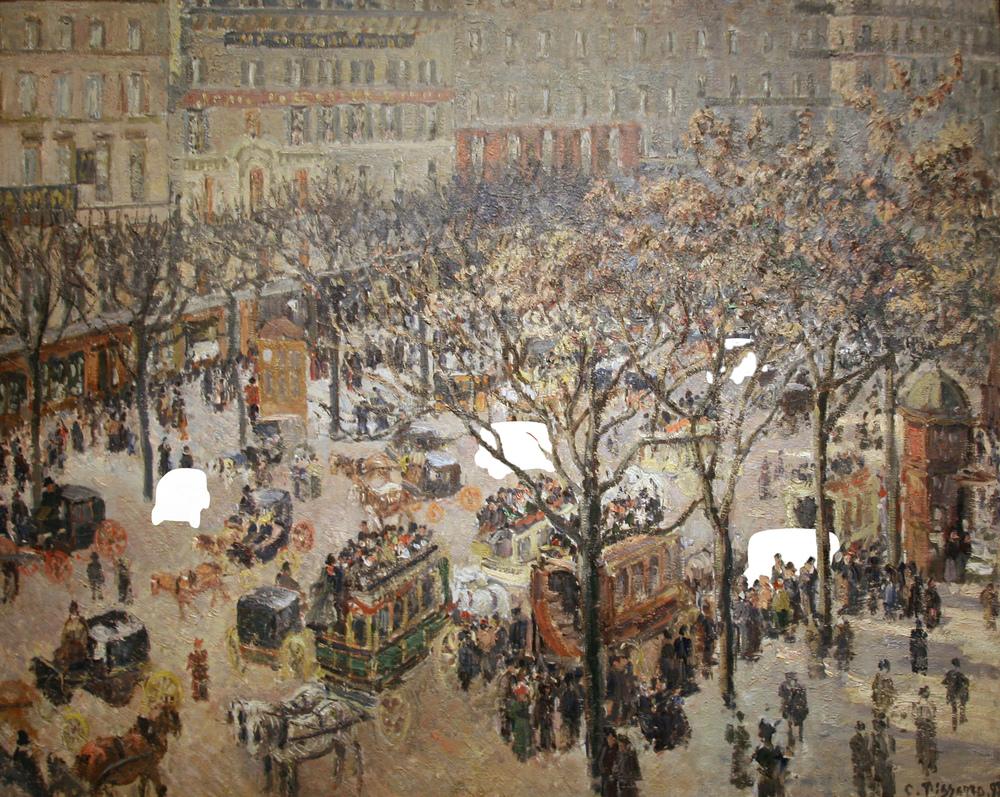 Camille Pissarro - Boulevard des Italiens. Morning, Sunlight