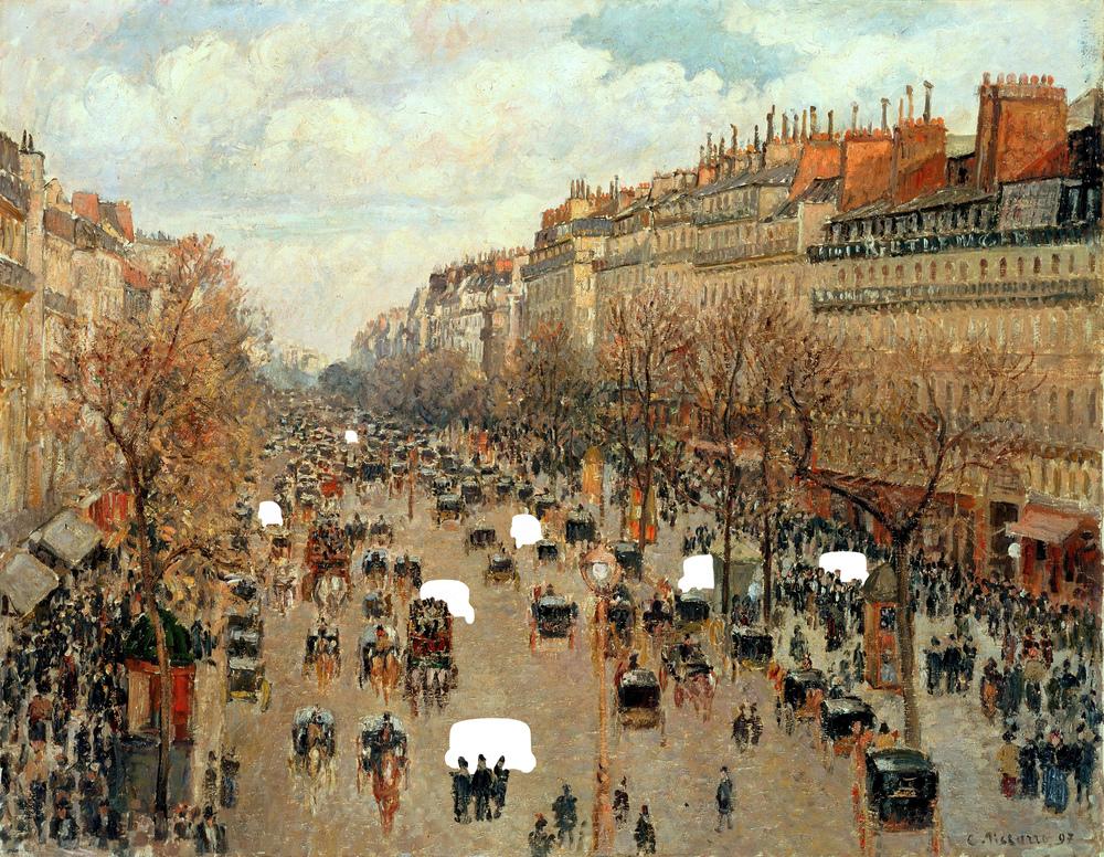 Camille Pissarro - Boulevard Montmartre à Paris