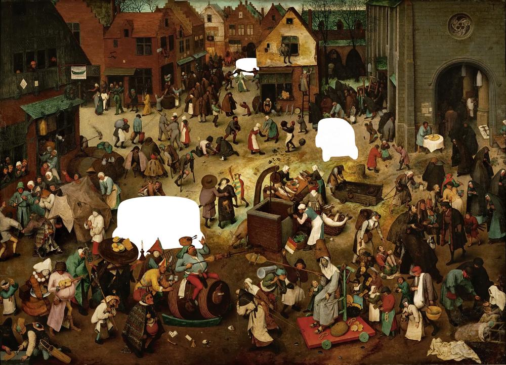 Pieter Bruegel the Elder - The Fight between Carnival and Lent