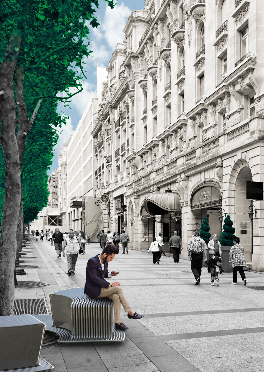 mobject in context - champs elysees - rechten.jpg