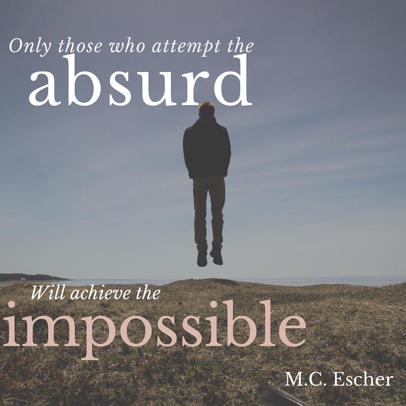 M.C. Escher quote