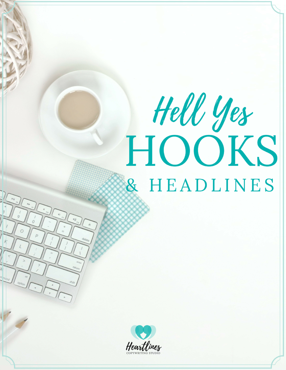FREE GUIDE      Hell Yes Hooks & Headlines    will help you ditch the formulas and learn the 3 step process to writing creative, compelling headlines & hooks to help you get seen.
