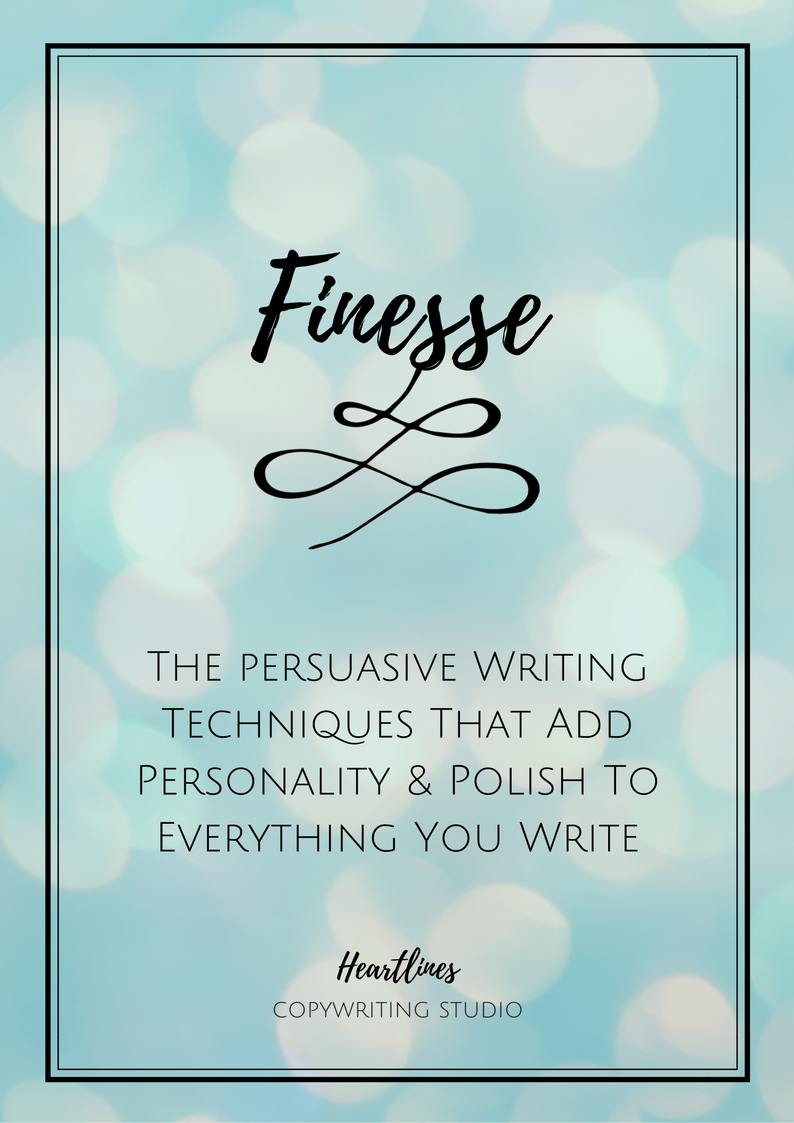 FREE GUIDE    The first step to adding personality to all of your writing is to be yourself.  The second step is to use all of the techniques in this doc to add a little spice to your storytelling.