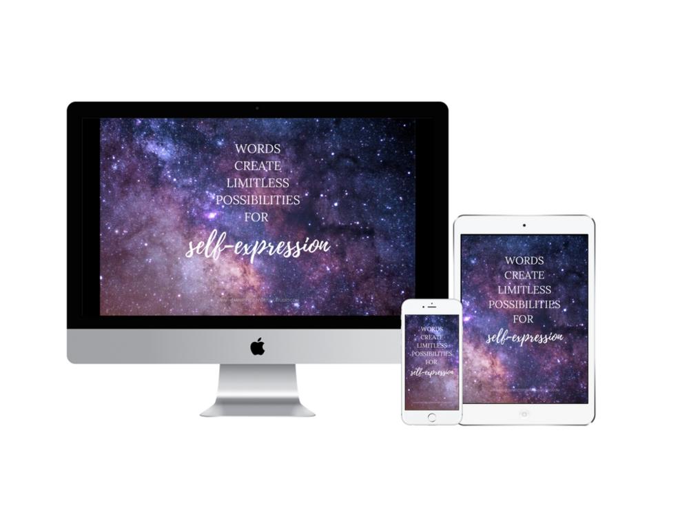 words create limitless possibilities digital wallpaper