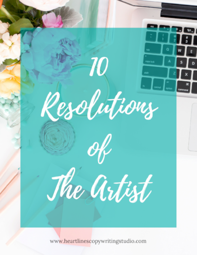 Download the PDF version of The 10 Resolutions of The Artist right here.