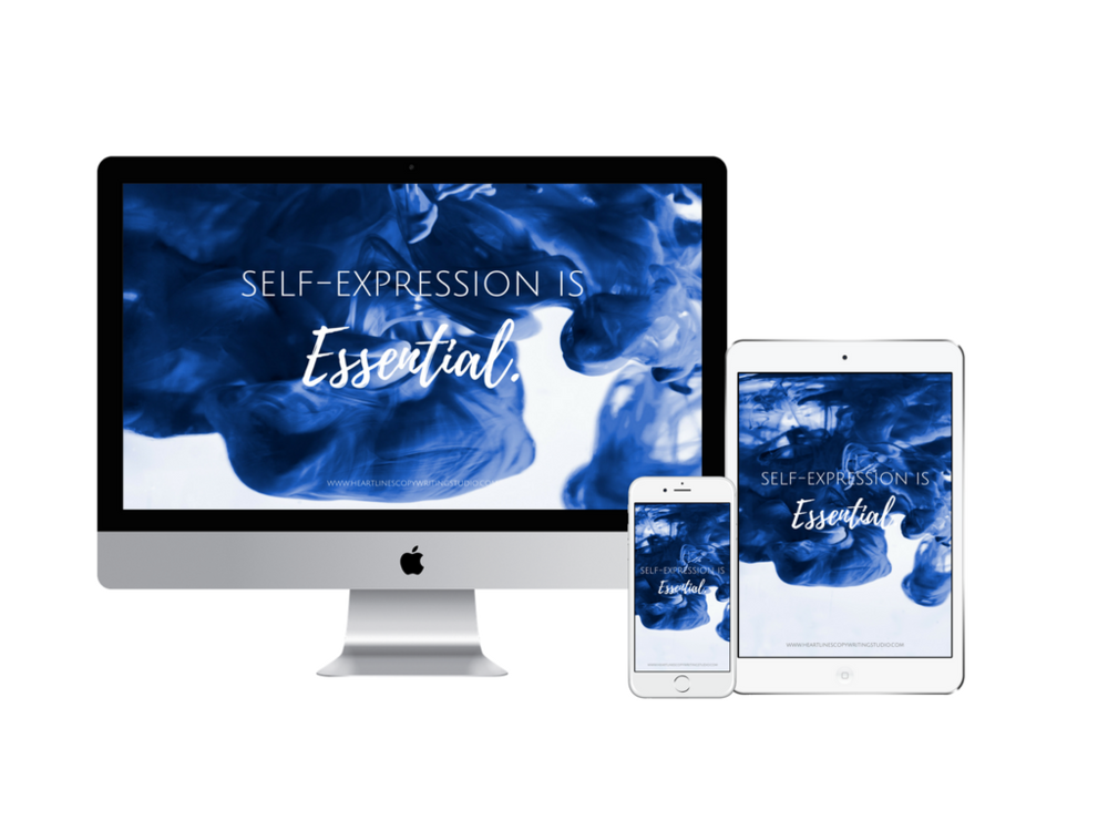 Need a beautiful digital reminder that self-expression is essential?  Grab your free digital wallpaper to remember to speak your truth with grace & compassion.  To remember to honour the wisdom of your body & soul.  Because in business & life...self-expression is essential.