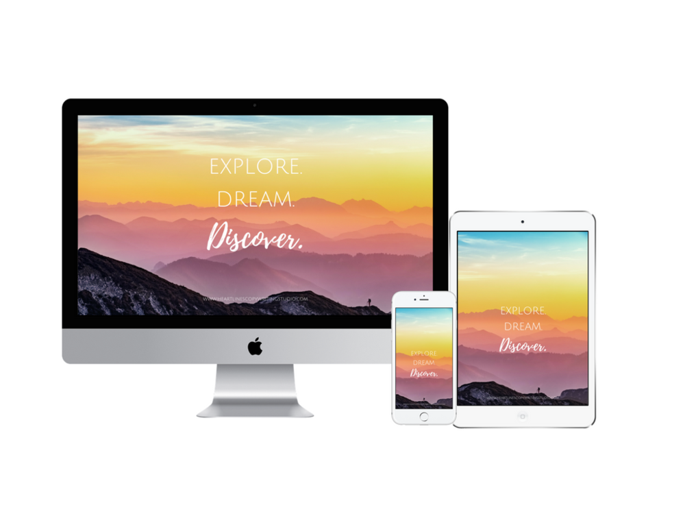 A gorgeous digital reminder to explore the edges of your creativity, dream bigger & discover what you stand for.   Grab this free digital wallpaper  to remember to explore, dream & discover more.**