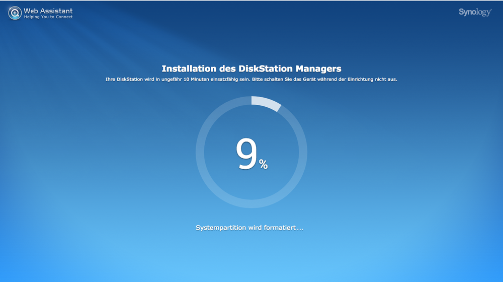Install the DiskStation Manager on your system