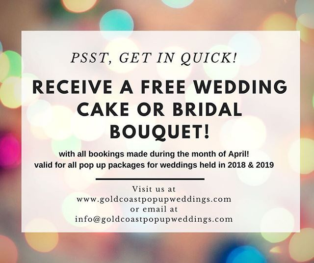 #weddingpackage #weddingoffer #weddinginspiration #popupwedding #popupweddings #gcpopupweddings #goldcoastbride #gcwedding #goldcoastwedding #goldcoastpopupwedding #goldcoastpopupweddings  #affordablewedding #destinationwedding #engaged #elope #elopement #proposal #goldcoastbride #queenslandbride #bride #weddingvenue #weddingsideas #queenslandwedding #weddinggiveaway
