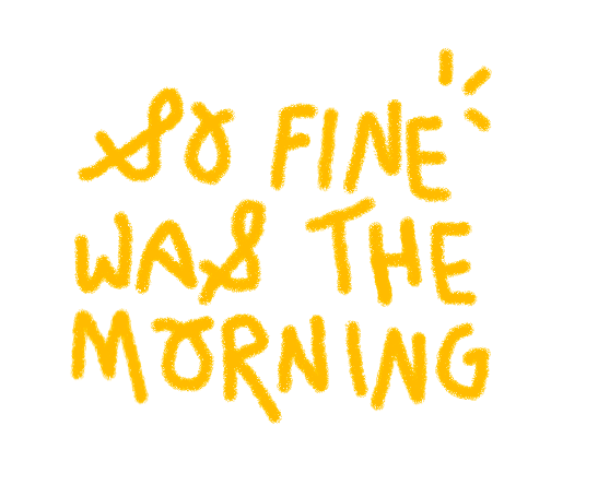 so fine was the morning