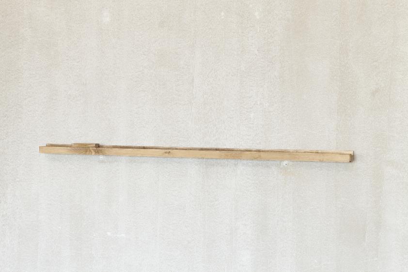 Apaga a dor , Pine, bondex and eraser, 156x8x5cm, 2018