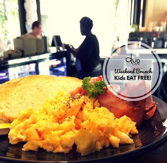 Kids Eat Free on weekends. Grab your partner or a friend and the kids and head down to see us for a delicious coffee & breakfast. Open from 8am Sat & Sun.  #caboolture #caboolturecafe #breakfast #brunch #instafood #delicious #tasty #alldaybreakfast #queensland