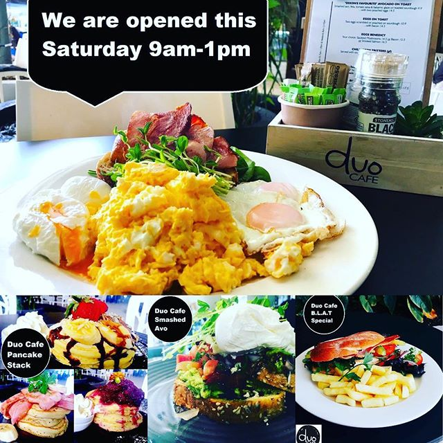 Still thinking where to go for brunch with your family or friends on Saturday?? Come and join us!! 🎉🎉 The convenient location, plenty of car park spaces, huge courtyard and our signature food and beverage that make you can enjoy the time with your loved one!  We are opened on Saturdays 9am-1pm. Mon- Fri 7am- 2:30pm