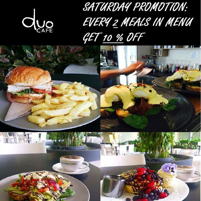 WEEKEND is coming again. ❤️❤️ Don't forget to come and enjoy our Saturday coffee, brunch and etc 📢📢 ❗❗SATURDAY SPECIAL: 10% discount for every 2 meals in menu ❗❗ We are open on Saturdays 9am-1pm. Mon- Fri 7am- 2:30pm. Any further inquiry please feel free to contact us 0481969569 :)