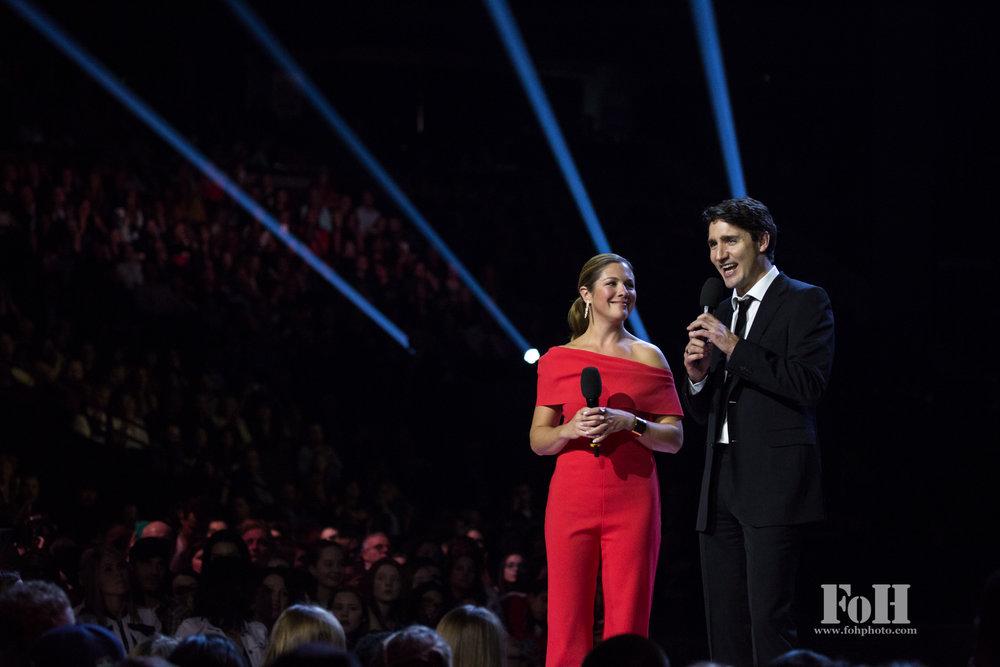 Prime Minister Justin Trudeau & Sophie Grégoire Trudeau