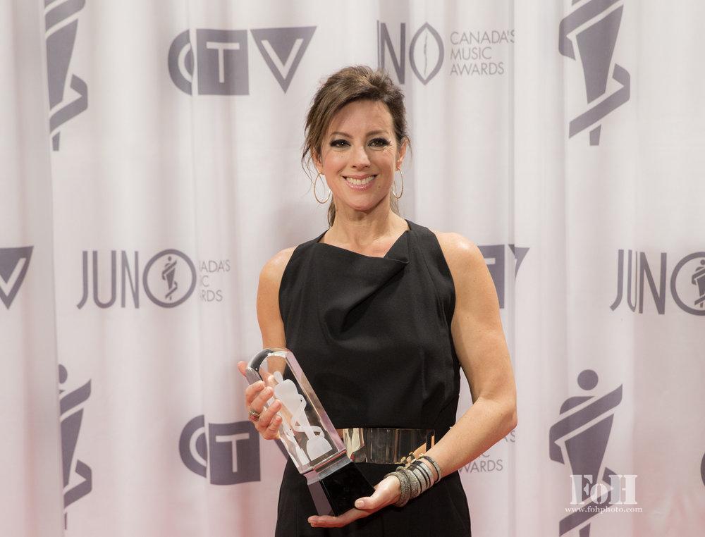 Sarah McLachlan, 2017 Juno Awards