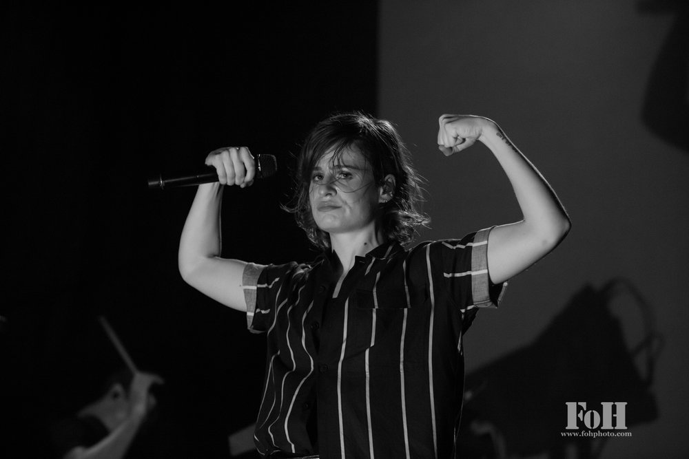 Héloïse Letissier known by her stage name Christine and the Queens perform to a packed house at The Phoenix Concert Theatre in Toronto (Bobby Singh/fohphoto).