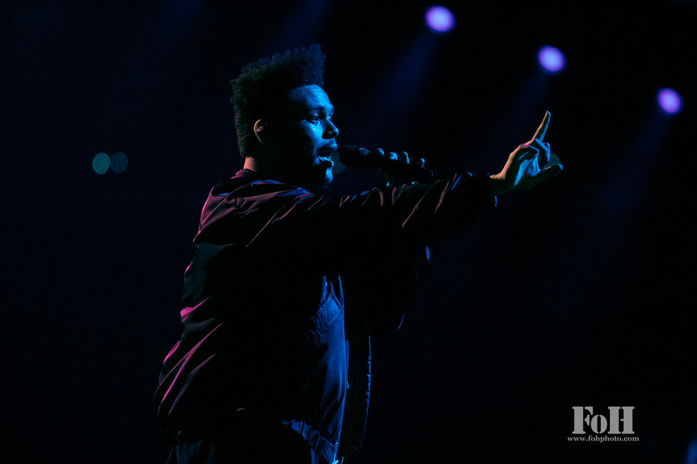 The Weeknd performs at The Air Canada Centre, Toronto. Bobby Singh/@fohphoto
