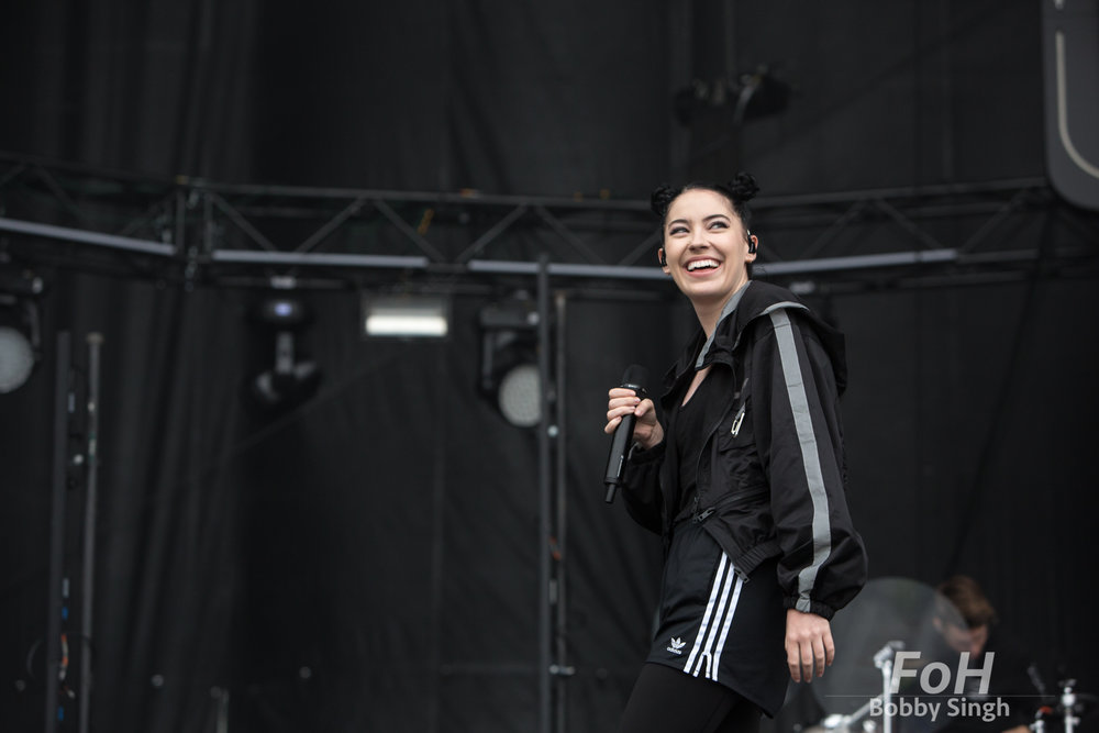 American pop star Bishop Briggs performs at The Arkells Rally, in Hamilton, Ontario.