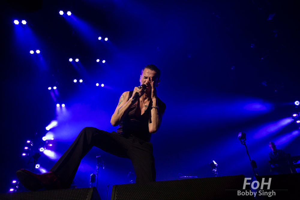 "Toronto, Canada. 11th June 2018. Dave Gahan of  DEPECHE MODE performing at the Air Canada Centre on the ""Global Spirit Tour"" in Toronto, CANADA."