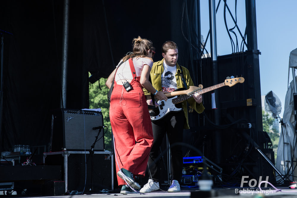 Middle Kids performing at the 2018 Field Trip Music & Arts Festival in Toronto.