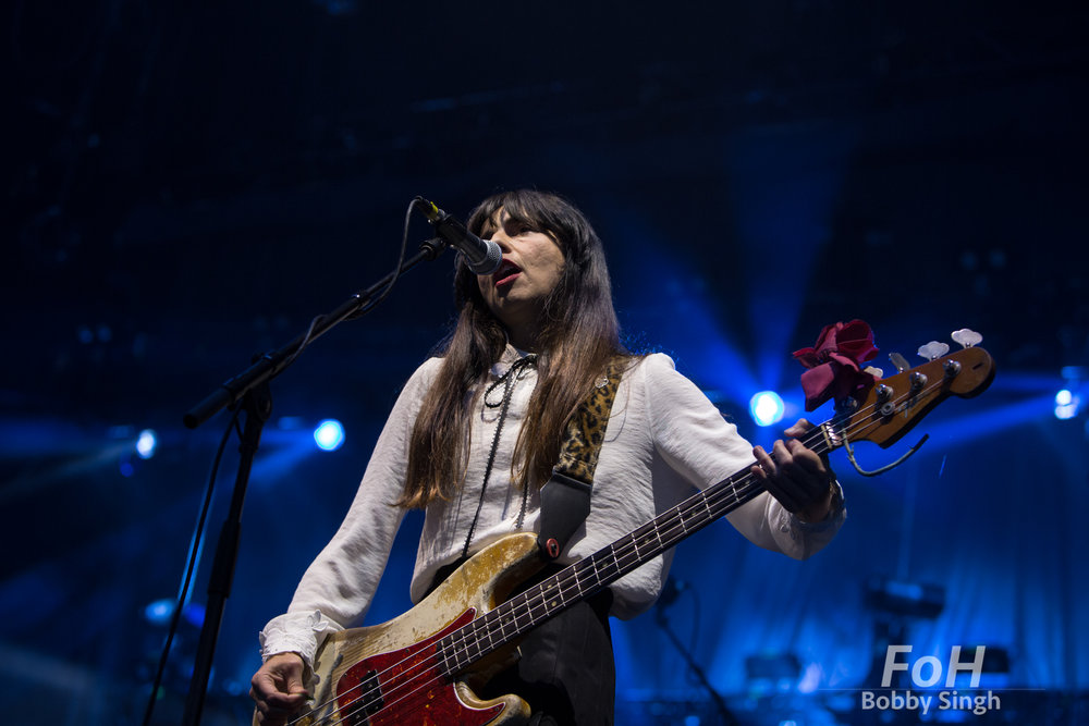 Toronto, CANADA. 14th July, 2018. Bassist Paz Linchentin of Pixies performing at Budweiser Stage in Toronto