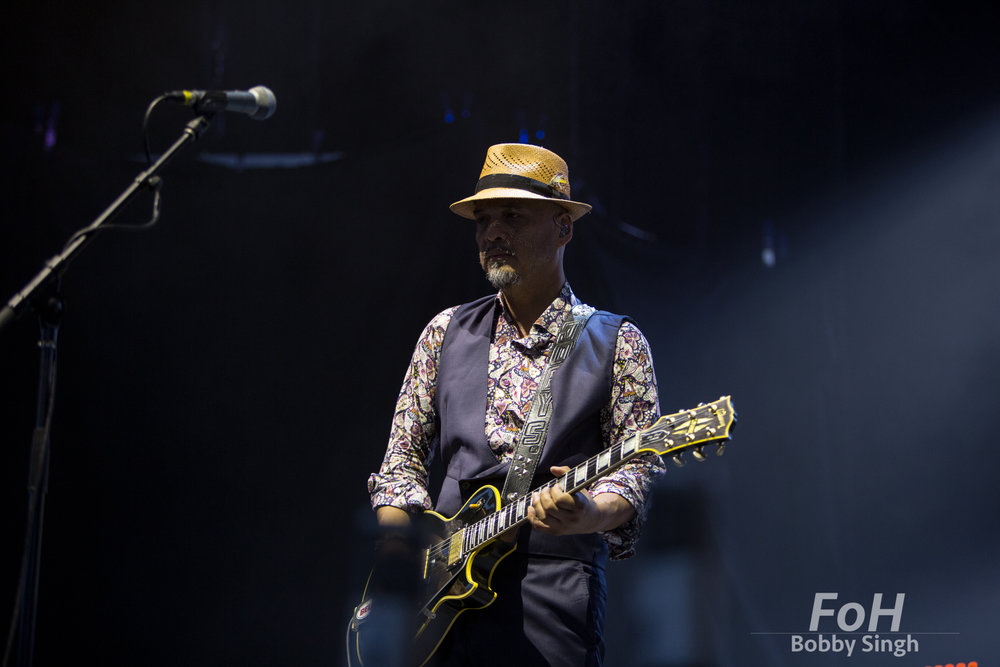 Toronto, CANADA. 14th July, 2018. Guitarist Joey Santiago of Pixies performing at Budweiser Stage in Toronto