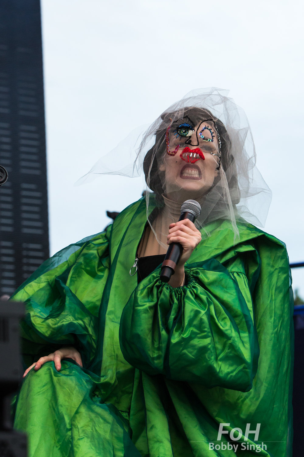 Toronto, CANADA. 30th July, 2018. Canadian musician Allie X performs at RBC Echo Beach , in Toronto CANADA.