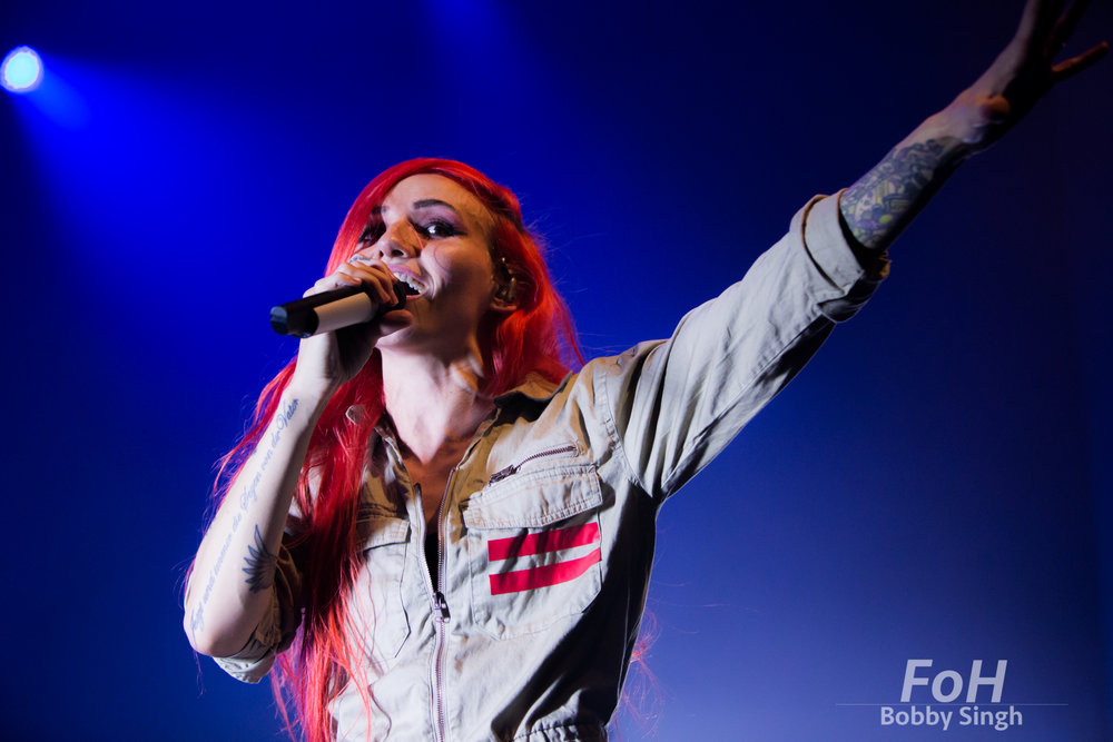 """Toronto, CANADA. 1st March 2018. Canadian singer Lights performs on the """"We Were Here"""" tour stop at The Danforth Music Hall. Credit: Bobby Singh/Alamy Live News"""