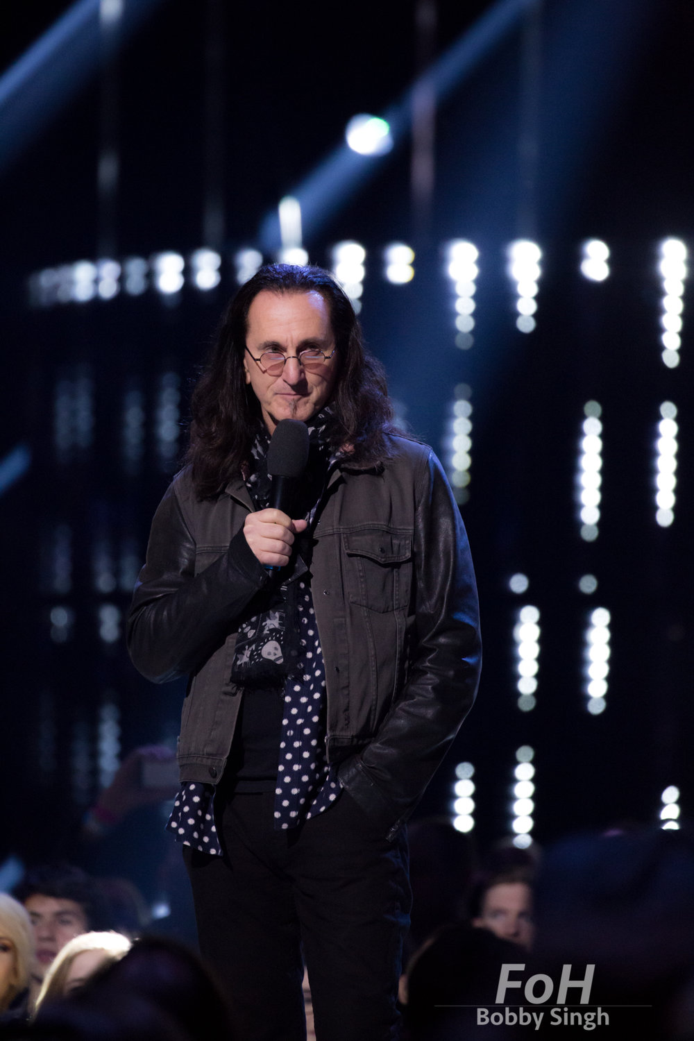 Vancouver, CANADA. 26th March, 2018. Lengendary Rush bassist and vocalist Geddy lee inducts Barenaked Ladies into the Canadian Music Hall of Fame at the 2018 Juno Awards in Vancouver. Credit: Bobby Singh/fohphoto