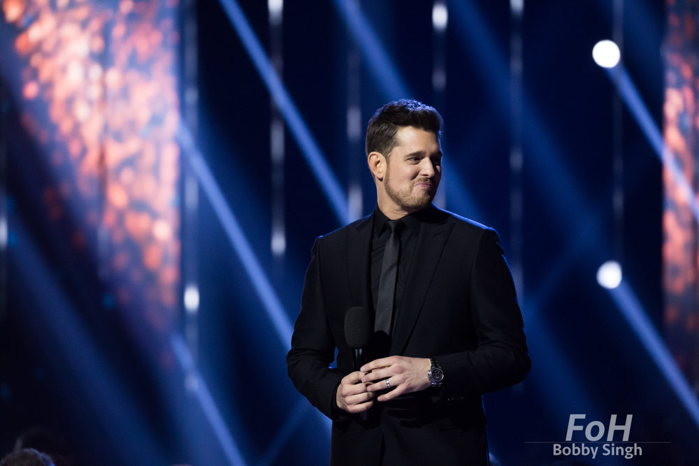 Vancouver, CANADA. 26th March, 2018. Host Michael Buble at the 2018 Juno Awards in Vancouver. Credit: Bobby Singh/fohphoto