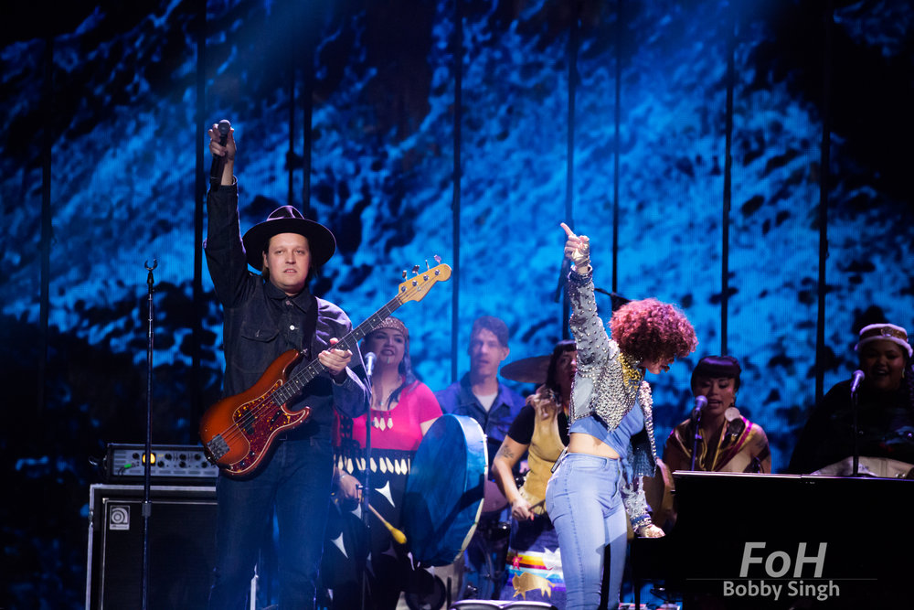 Vancouver, CANADA. 26th March, 2018. Arcade Fire performing at the 2018 Juno Awards in Vancouver. Credit: Bobby Singh/fohphoto