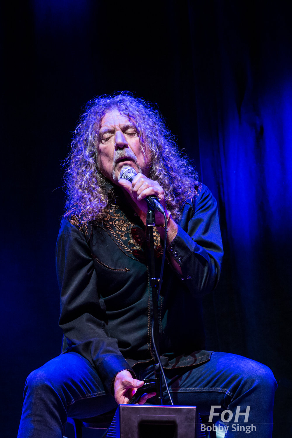 Robert Plant performing at the Lampedusa Concert for Refugees fundraiser at Massey Hall in Toronto