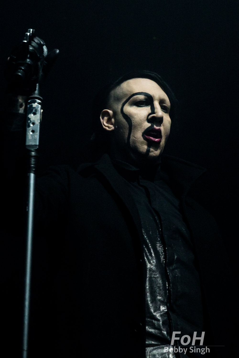 "Toronto, CANADA. Marilyn Marilyn Manson performs on the ""Heaven Upside Down"" Tour at Rebel Nightclub. Bobby Singh"