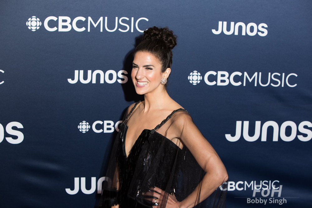 Laila Biali on the 2019 JUNO Awards red carpet at Budweiser Gardens, in London, Ontario, CANADA