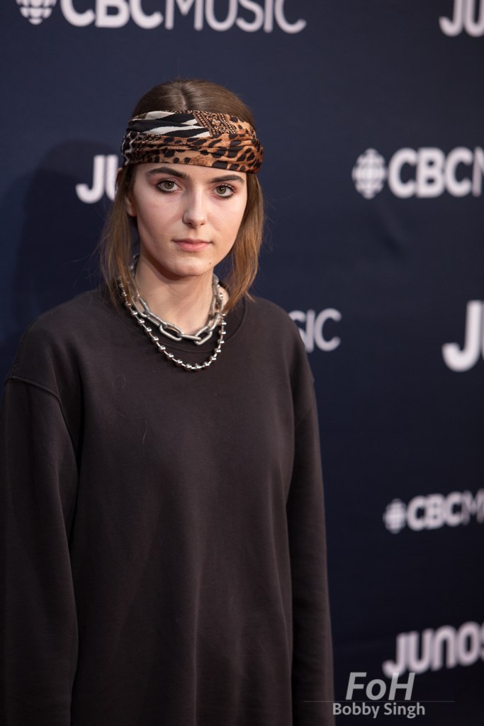Bülow on the 2019 JUNO Awards red carpet at Budweiser Gardens, in London, Ontario, CANADA