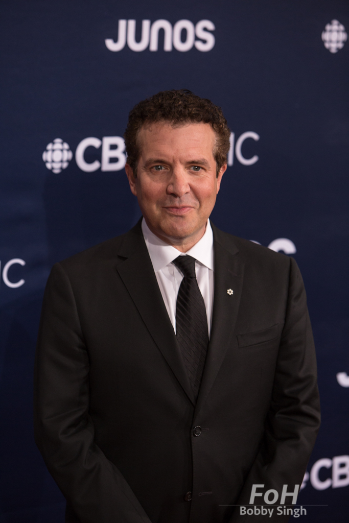 Rick Mercer on the 2019 JUNO Awards red carpet at Budweiser Gardens, in London, Ontario, CANADA