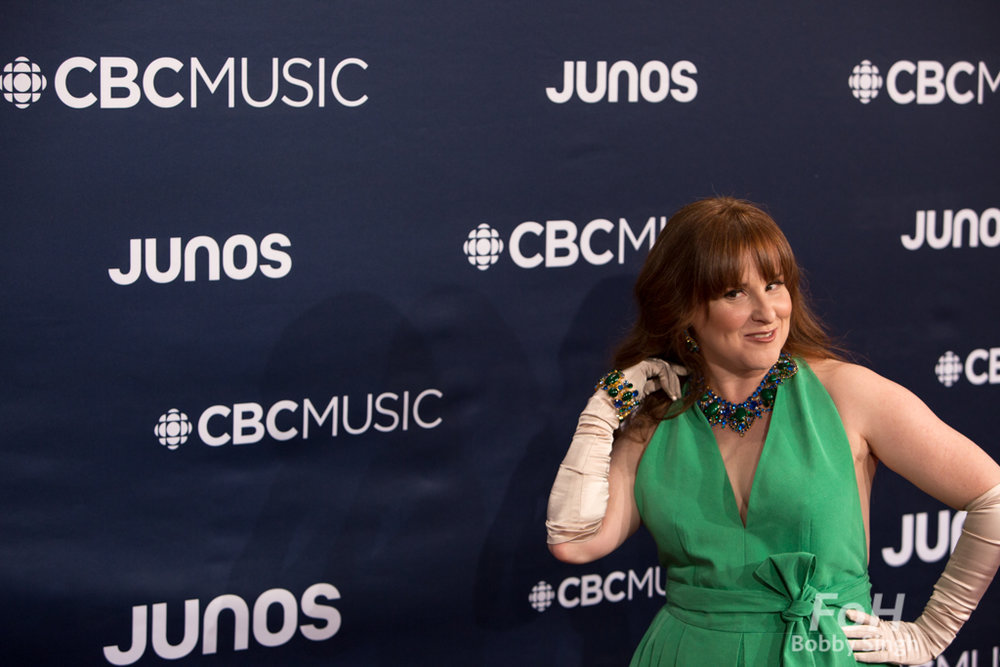 Diana Panton on the 2019 JUNO Awards red carpet at Budweiser Gardens, in London, Ontario, CANADA