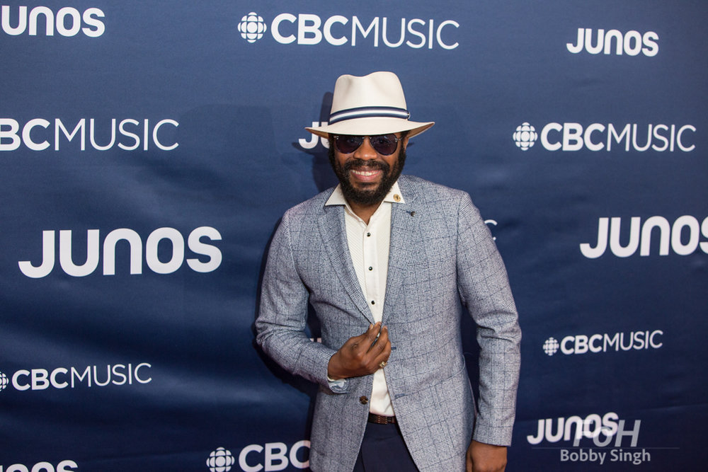 Exco Levi on the 2019 JUNO Awards red carpet at Budweiser Gardens, in London, Ontario, CANADA