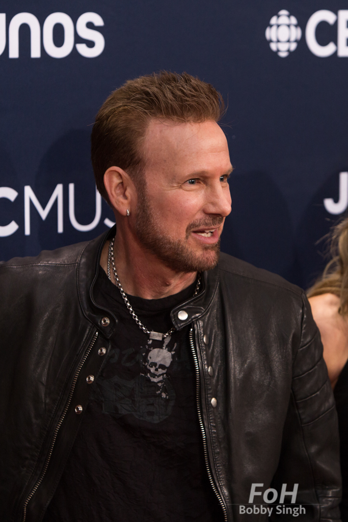 Corey Hart and family on the 2019 JUNO Awards red carpet at Budweiser Gardens, in London, Ontario, CANADA