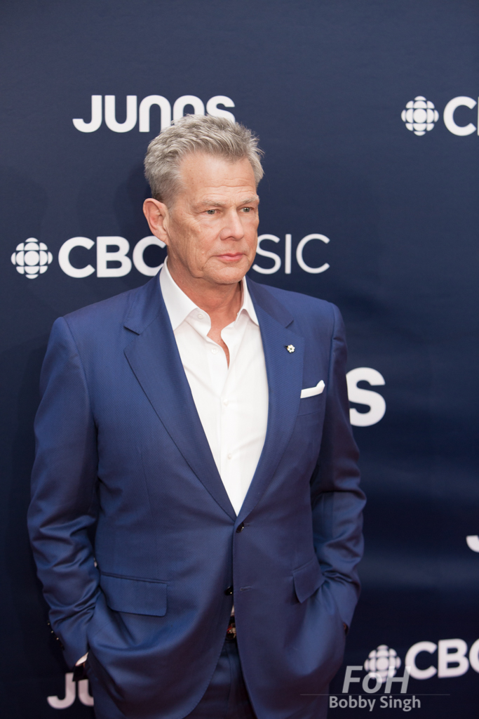David Foster on the 2019 JUNO Awards red carpet at Budweiser Gardens, in London, Ontario, CANADA