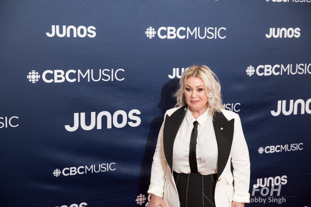 Jann Arden on the 2019 JUNO Awards red carpet at Budweiser Gardens, in London, Ontario, CANADA