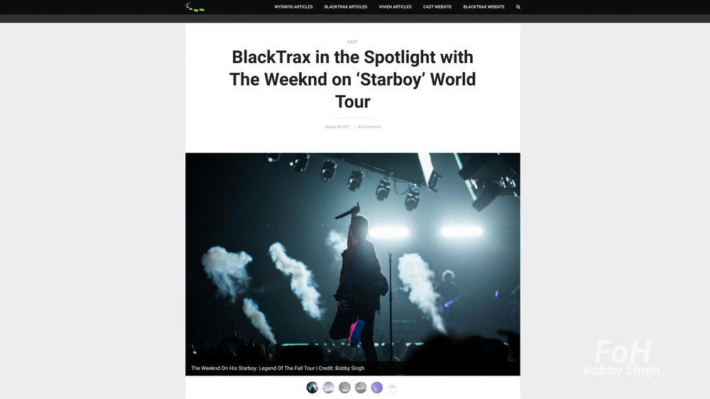 """""""The Weeknd"""". CAST Software. 08.20.2017"""