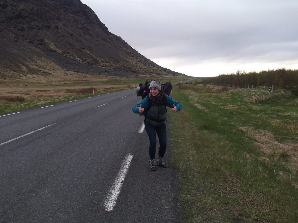 Karly Haggerty hiking in Reykjavik, Iceland