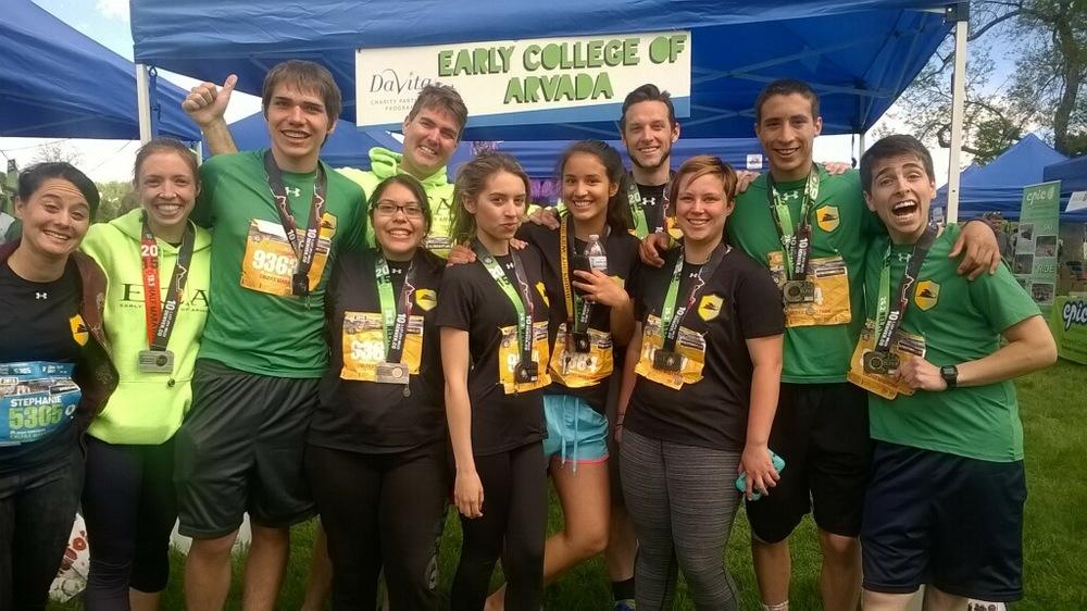 The 2015 ECA Team for the Colfax Marathon