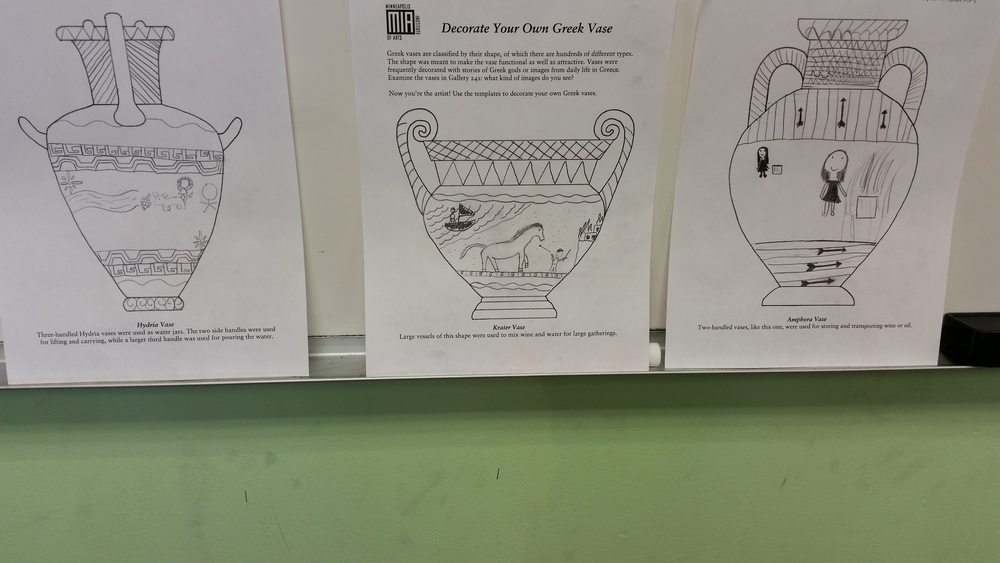 Student drafts of Greek vases